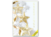 Snowflakes and Stars Holiday Greeting Cards