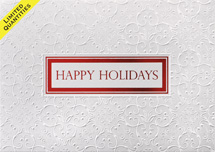 Embossed Satin Holiday Cards